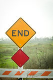 End of the Road Sign Stock Photography