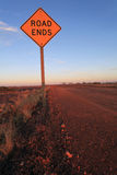 End of the road sign in Outback Australia Stock Photo