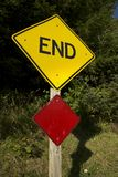 End Road Sign Royalty Free Stock Images