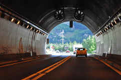 End of road tunnel Stock Photo