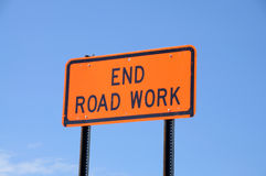 End Road Work Stock Photography
