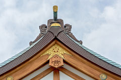 End of a roof in Japan Stock Photography
