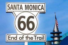 End of Route 66. In Santa Monica Royalty Free Stock Image
