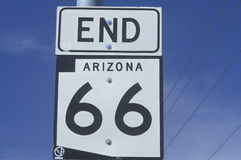 End route 66 sign in Arizona Stock Images