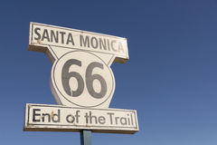 End of Route 66 Stock Image
