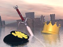 End of royalty - 3D render Stock Images