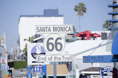 End of Rt 66 sign Stock Images