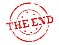 The end. Rubber stamp with text the end inside,  illustration Stock Image