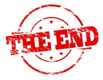 The end. Rubber stamp with text the end inside,  illustration Royalty Free Stock Images