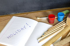End of school summer holiday camp concept Stock Photos