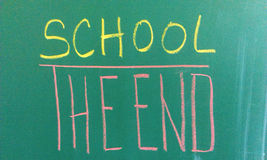 End of school time Royalty Free Stock Image