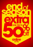 End of season extra 50% off. Royalty Free Stock Images