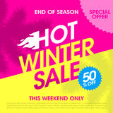 End of season hot winter sale Stock Images