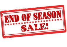 End of season. Rubber stamp with text end of season inside,  illustration Stock Image
