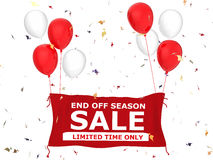 End of season sale banner Stock Photos