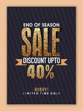 End of Season Sale Banner, Poster or Flyer. Royalty Free Stock Photography