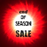 End of season sale banner. Sale banner. End of season sale. Design element Royalty Free Stock Image