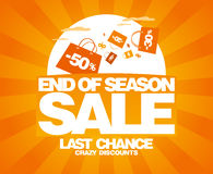 End of season sale design template. Royalty Free Stock Image