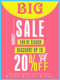 End of season sale flyer or banner. Stock Photo