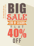 End of season sale flyer. Royalty Free Stock Photos