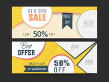 End of season sale header or banner set. Royalty Free Stock Photography