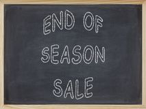 End of Season Sale meat written on a blackboard. To mean a business concept Stock Photography