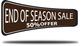 End of season sale 50% offer colorful web button white background. End of season sale 50% offer colorful design web icon and isolated white background Royalty Free Stock Photography