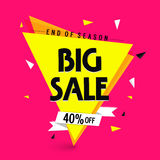 End of Season Sale Poster, Banner or Flyer. Royalty Free Stock Images