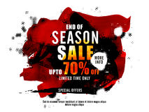 End of Season Sale Poster, Banner or Flyer design. End of Season Sale Poster, Sale Banner, Sale Flyer, Upto 70% off, Limited Time Sale, Sale with special offer Royalty Free Stock Images