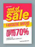 End of Season Sale Poster, Banner or Flyer. Stock Image