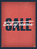 End of season sale poster template. Discounts and Stock Images