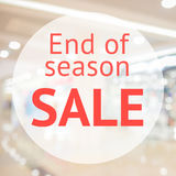 End of season sale sign Royalty Free Stock Image