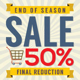 End of Season Sale Vintage Stock Images