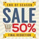 End of Season Sale Vintage Stock Images