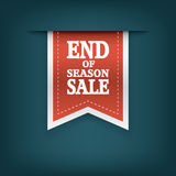End of season sales ribbon elements. Sale Royalty Free Stock Photo