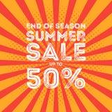 End of season summer big sale banner Stock Photos