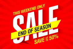 End of season weekend sale banner Royalty Free Stock Photography