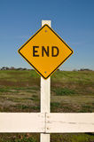 End Sign Stock Images