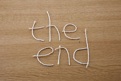 The End, sign for the finish! Stock Photography