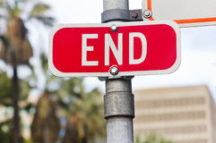 End Sign Royalty Free Stock Photography