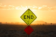 End sign Royalty Free Stock Photo
