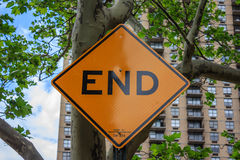 End sign Stock Image