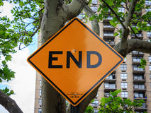 End traffic sign Stock Photos