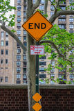 End traffic sign Royalty Free Stock Photos