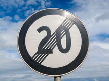 End of speed limit 20 Royalty Free Stock Photography