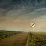End of speed limit 50 sign Stock Images