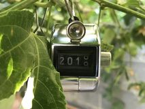 End of 2018, Start of 2019. Made this clicker indicates the switch between 2018 and Stock Photography