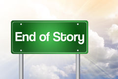 End of Story Green Road Sign Royalty Free Stock Images