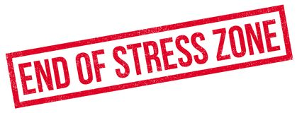 End Of Stress Zone rubber stamp Royalty Free Stock Photography