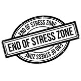 End Of Stress Zone rubber stamp Stock Images